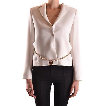 Elisabetta Franchi Ezbc050041 Women's White Polyester Blazer