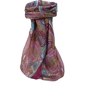 التوت الحرير وشاح المربعة التقليدية فيفيا روز من الباشمينا & الحرير