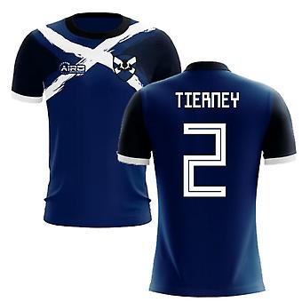 2020-2021 Scotland Flag Concept Football Shirt (Tierney 2) - Kids