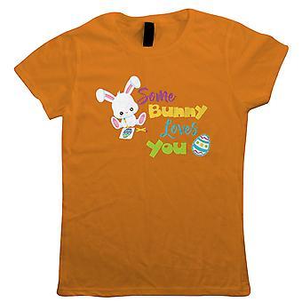 Some Bunny Loves You Womens T-Shirt - Cadeau de Pâques Sa maman