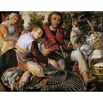 Peasants at market, Joachim Beuckelaer, 50x40cm