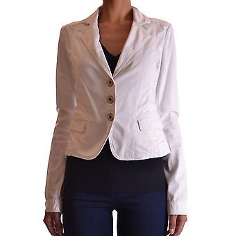 Blugirl Folies Ezbc208006 Femmes-apos;s White Cotton Blazer