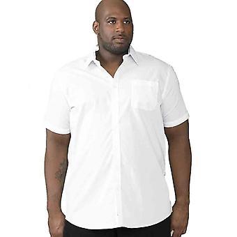 Hertog Mens Delmar Kingsize D555 klassieke reguliere Shirt met korte mouwen