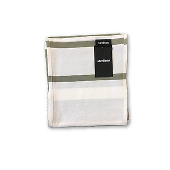 Strellson scarf in green and white stripe