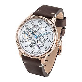 Carl von Zeyten Men's Watch Wristwatch Automatic Lahr Rosé CVZ0021RWH