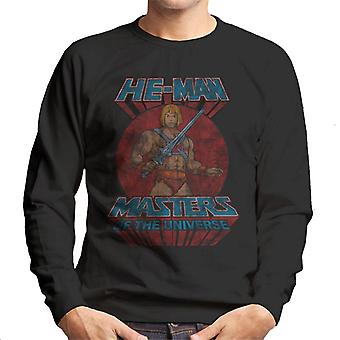 Masters Of The Universe Distressed He Man Power Sword Pose Men's Sweatshirt