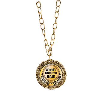 Bristol Novelty Mens Worlds Greatest Dad Medal