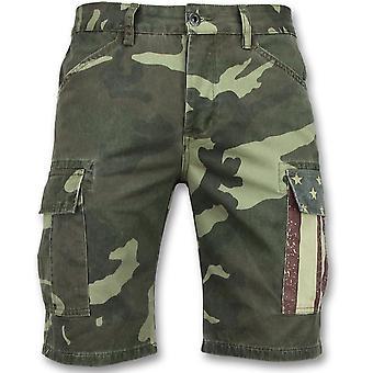 Camouflage Shorts - Bermuda Online -9017 - Green