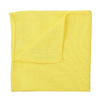 Daffodil Yellow Hopsack Linen Pocket Square
