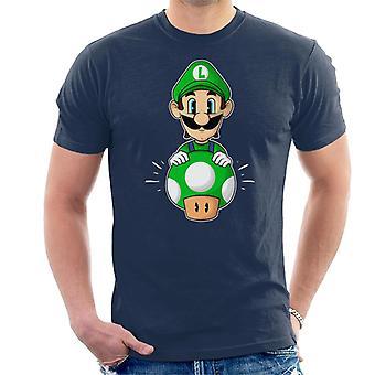 Luigi Pop Super Mario Bros Men's T-Shirt