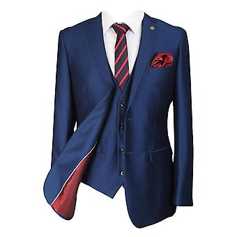 Paul Andrew Mens & Boys Sheen Effect Royal Blue Wedding 3 Piece Suit