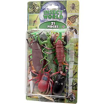 Natural World 21st Insect Playset Insects 5-15cm figurines Lekset