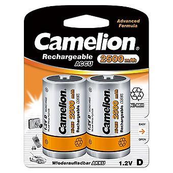 2x Camelion rechargeable D Batteries NiMH HR20 LR20 2500mAh batterie
