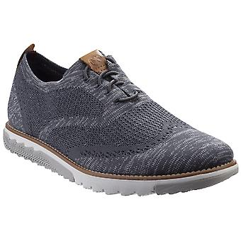 Hush Puppies Mens Expert Wingtip Knit BouncePLUS Lace Up Shoe Dark Grey Multi Knit