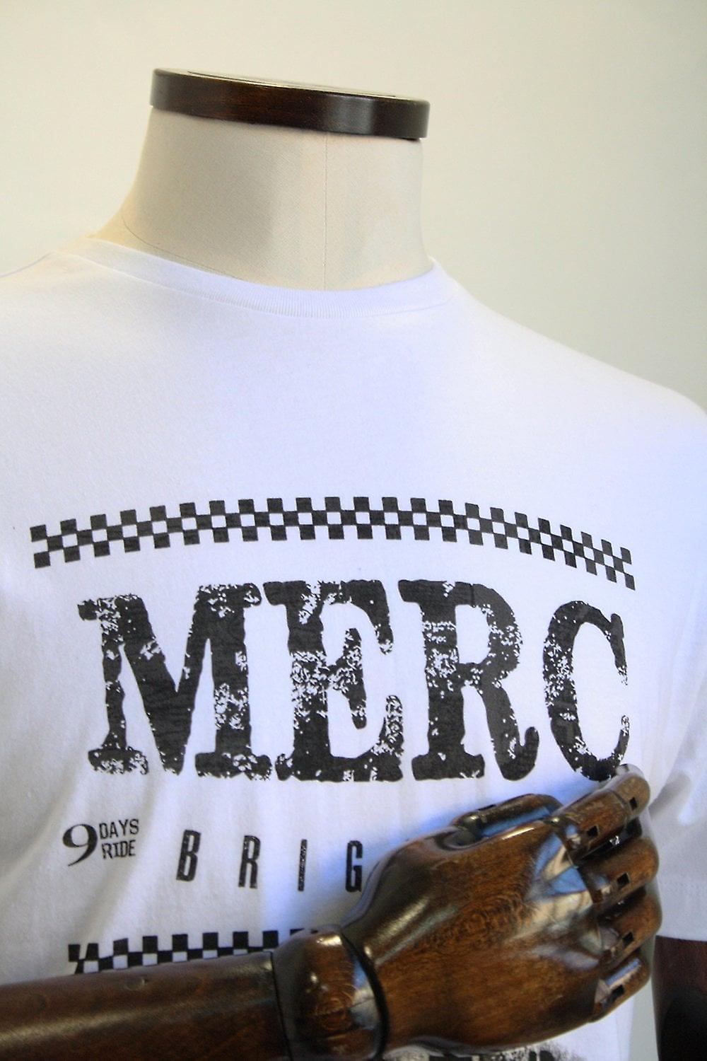 Merc London Catford White Road Trip Print T-Shirt