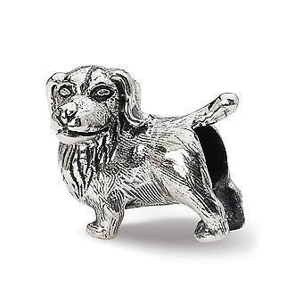 925 Sterling sølv polert antikk finish Reflections Golden Retriever bead Charm