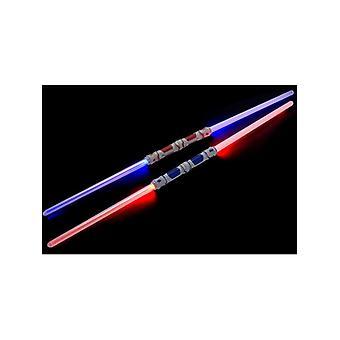 Double Ended aansluitbaar Light Sword, veelkleurig, oplichten Fancy Dress accessoire