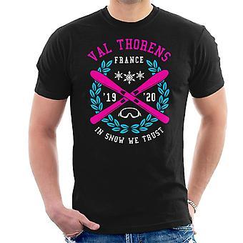 Val Thorens Frankrig ' 19 ' 20 ski Crest mænd ' s T-shirt