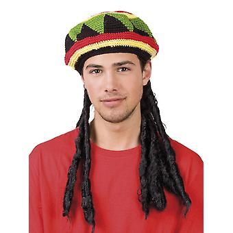 Berretto Rasta con i Dreadlocks costume accessorio