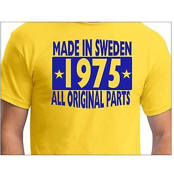 Gele T-shirt gemaakt in Zweden 1975 alle originele onderdelen