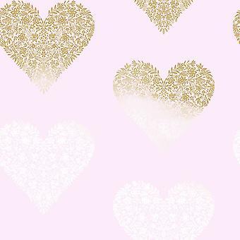 Papel de parede floral Holden do coração