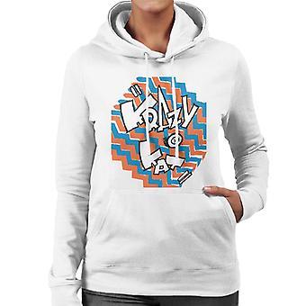 Krazy Kat Coloured Zigzag Logo Women's Hooded Sweatshirt