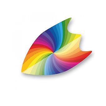 Unicorn Darts Core.75 Micron Durable Dart Fin Flight Rainbow Swirl - 3 Pack