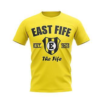 Øst-Fife etablert fotball T-skjorte (gul)