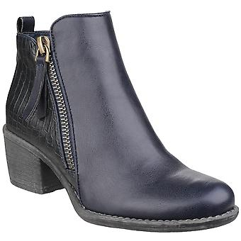 Divaz Womens/Ladies Dench Zip Up Reptile Skin Ankle Boots