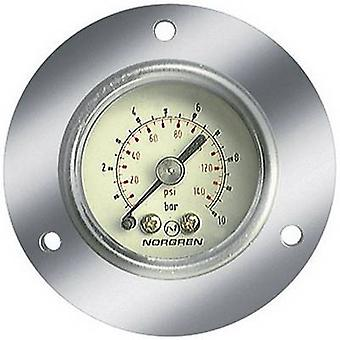 Norgren Manometer 18-013-881 Connector (pressure gauge): Back side 0 up to 10 bar External thread 1/4 1 pc(s)