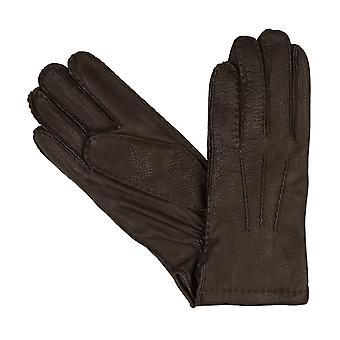 bugatti men's gloves gloves Deer leather brown 8358