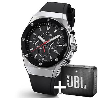 TW Steel Ceo Tech 44 Mm Chronograph Watch Ce4042