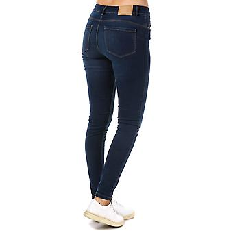 Womens Vero Moda sept Shape Up Jean Slim en Denim bleu foncé