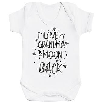 أنا أحب جدتي إلى القمر والظهر ملابس الطفل