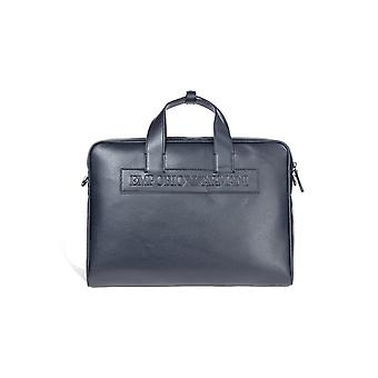 EMPORIO ARMANI BLUE NAVY BRIEFCASE