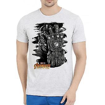 Thanos avengers half sleeves melange t-shirt