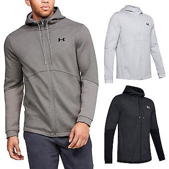 Sotto armour mens double knit full zip umidità traspirante felpa con cappuccio