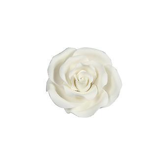 SugarSoft Fiore commestibile - Rosa Bianca 50mm - Scatola Di 10