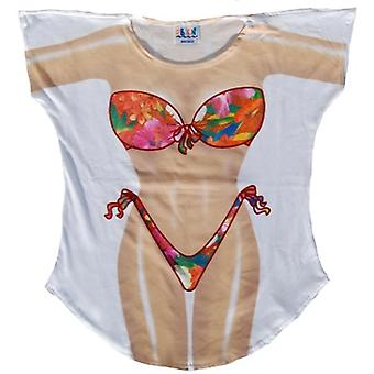 Fiori tropicali Bikini Cover-Up Plus