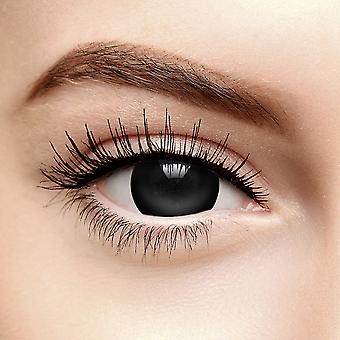 Black Mini Sclera Halloween Colored Contact Lentilles (Quotidien)