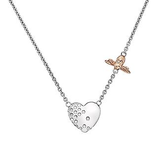 Hot Diamonds Honey Bee Heart Rose Gold Plate Accents Necklace DN146