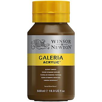 Winsor et Newton Galeria Acrylic Paint 500ml - Burnt Umber