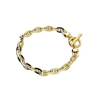 Eternity Sterling Silver Gold Plated Anchor T Bar Bracelet