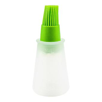 Silicone brush with container for the kitchen