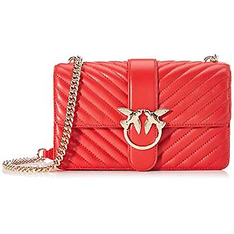 Pinko Love Classic Mix Cl Nappa Red Woman Shoulder Bag (Red-Red Chinese) 7.5x16.5x27 cm (W x H x L)
