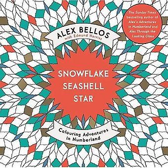 Flocon de neige Seashell Star: Coloration Adventures in Numberland (livres à colorier)