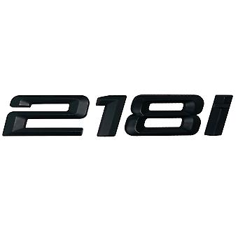 Matt Black BMW 218i Car Badge Emblem Model Numbers Letters For 2 Series F22 F45 F46