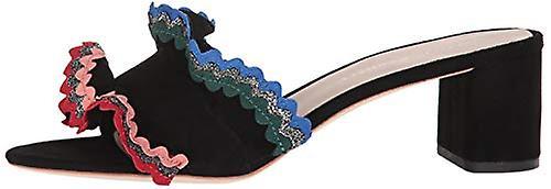 Loeffler Randall Women ' s Vera ruffle Slide Sandal (vevd bomull) hæler - Spesiell rabatt