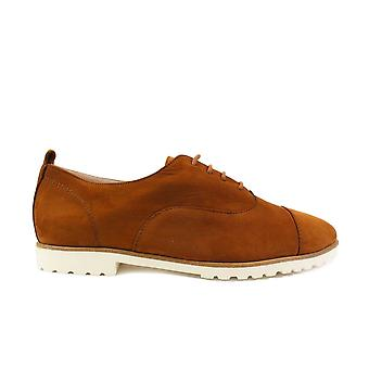 Paul Green 2557-04 Tan Nubuck Leather Womens Lace Up Shoes