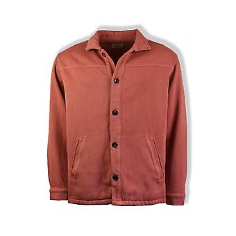 Nudie Jeans Co Elias Twill Overshirt (Dusty Red)
